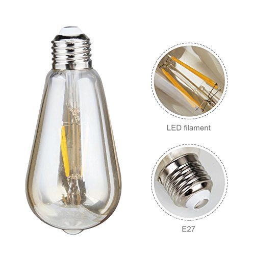edison gl hlampen samione edison led lampe vintage stil gl hbirne squirrel cage retro lampe. Black Bedroom Furniture Sets. Home Design Ideas